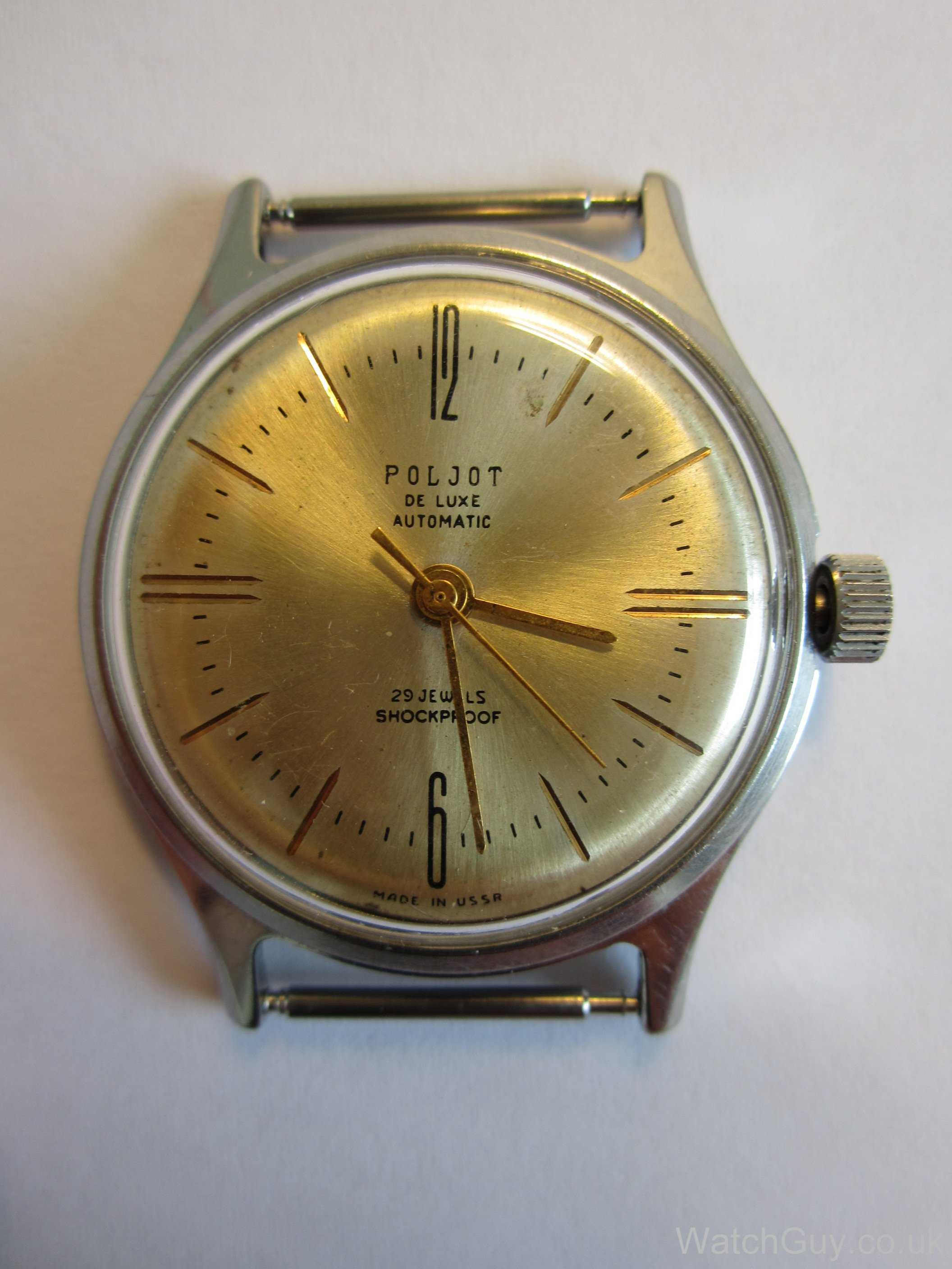 Service repair poljot deluxe automatic calibre 2415 watch guy for Foljot watches