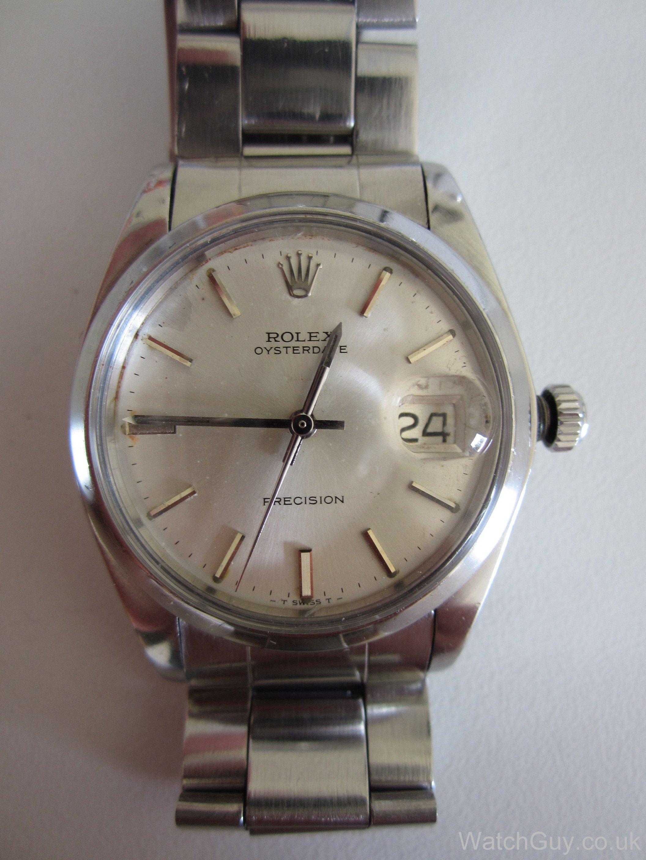 service rolex oysterdate precision 6694 calibre 1225 watch guy. Black Bedroom Furniture Sets. Home Design Ideas