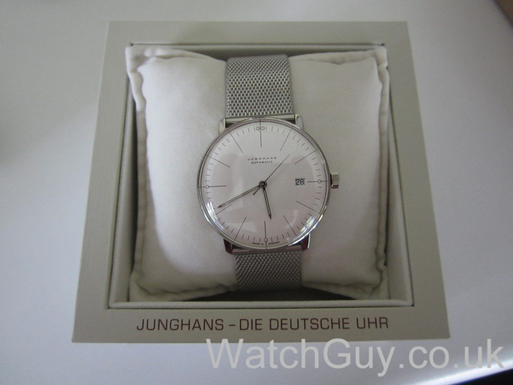 review junghans max bill automatic date 027. Black Bedroom Furniture Sets. Home Design Ideas