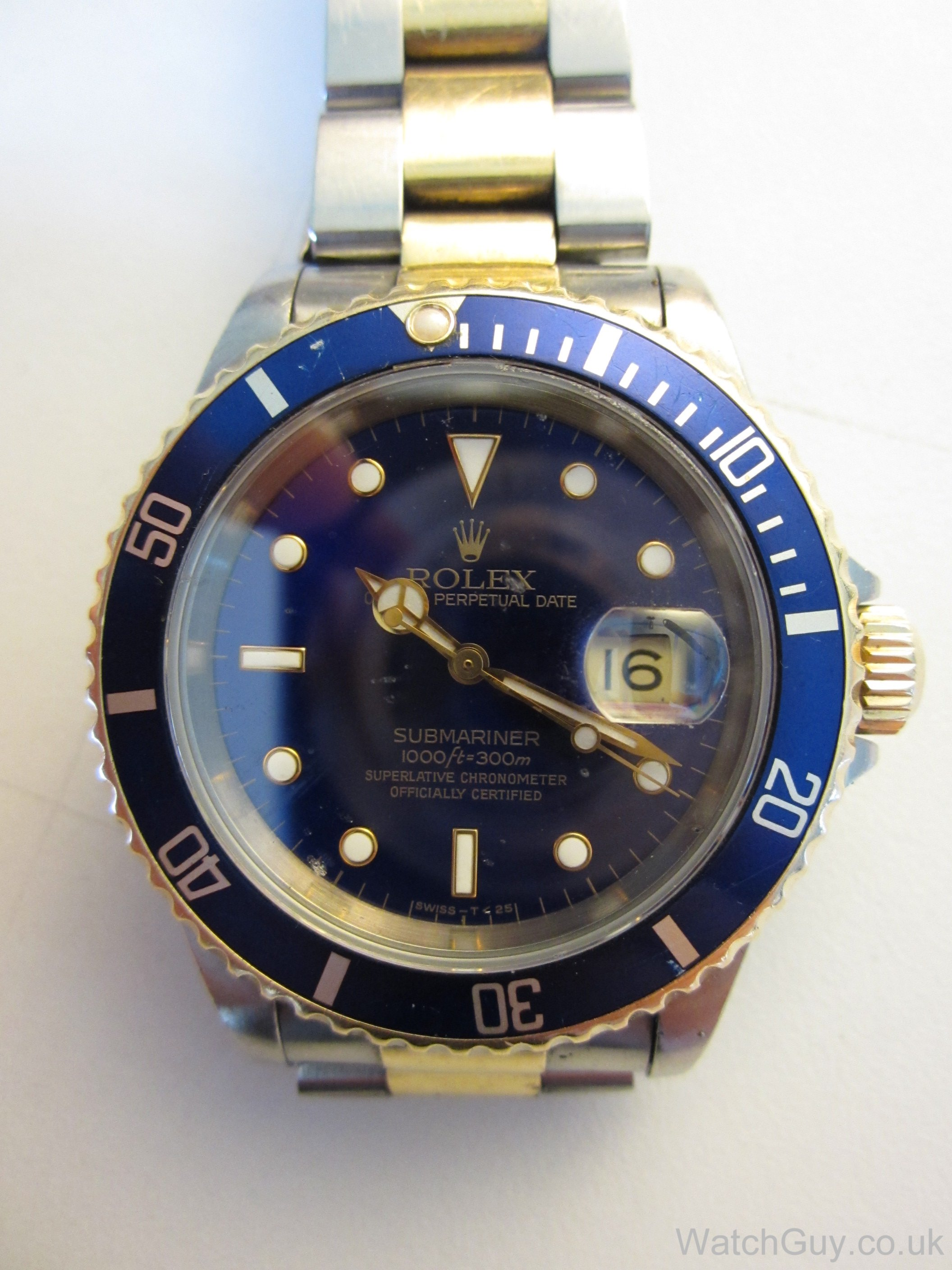 repair service rolex oyster submariner 16610 calibre 3135 watch guy. Black Bedroom Furniture Sets. Home Design Ideas