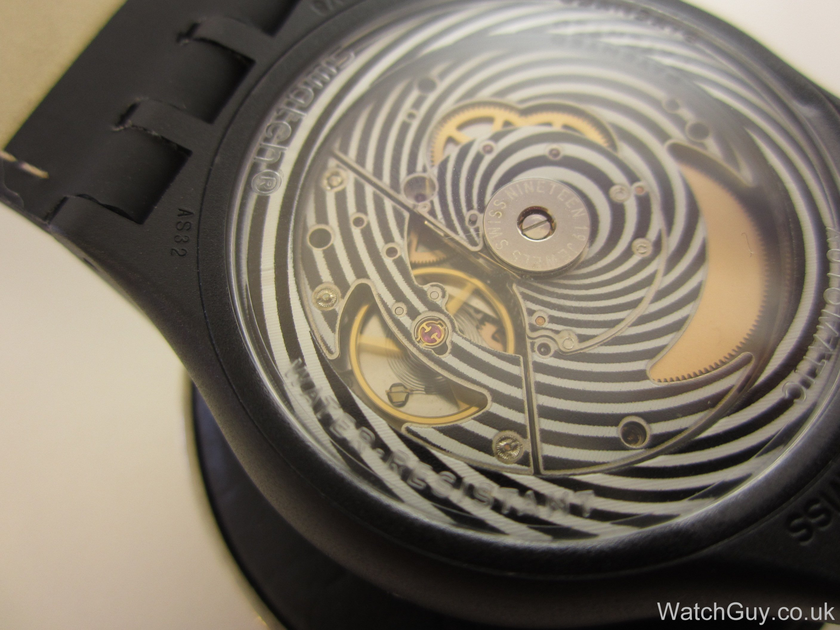 how to change time on swatch touch