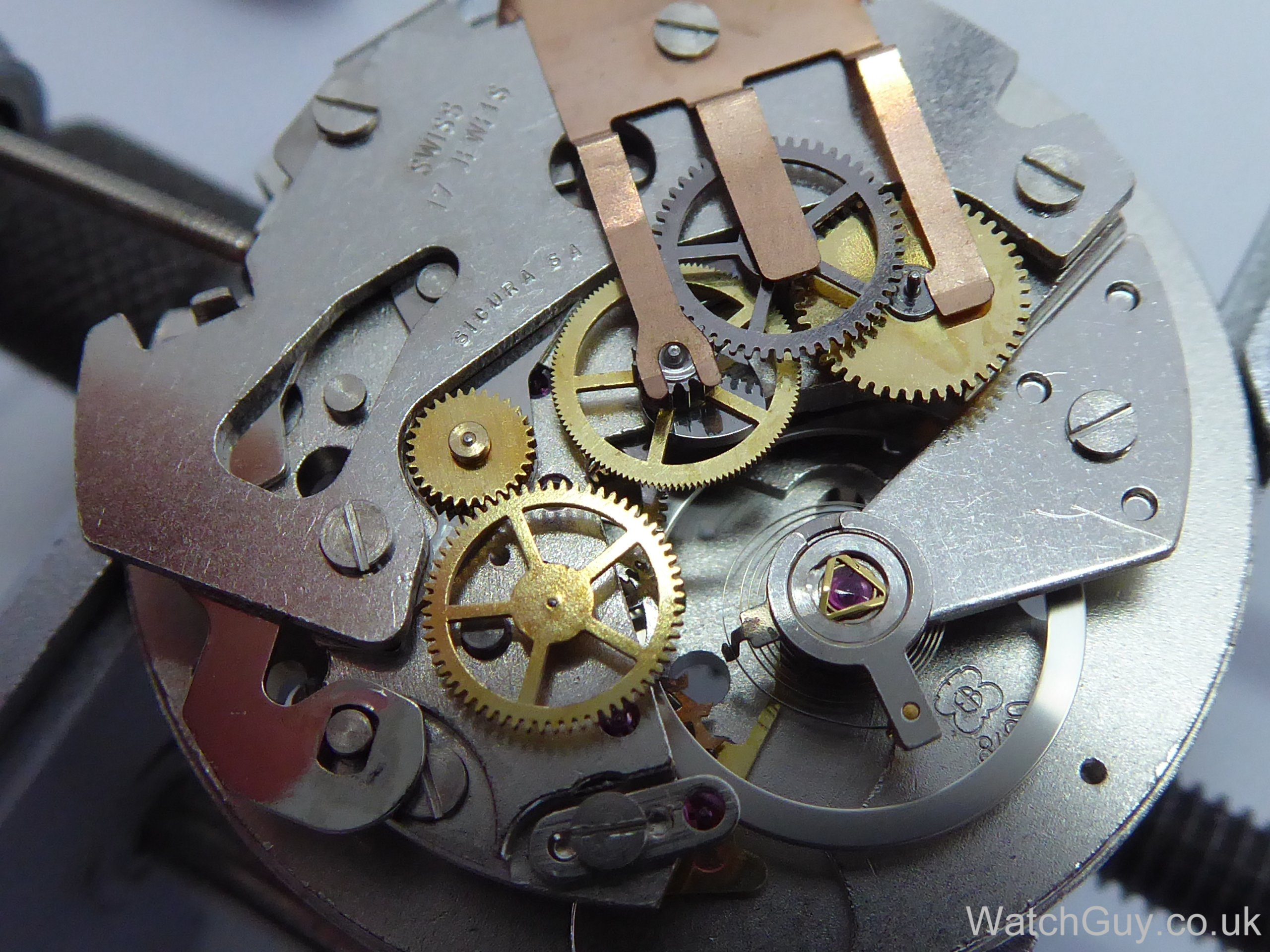 A Labour Of Love Sicura Chronograph Eb 8420 74 Watch Guy Parts Diagram Related Images The Two Are Pressed Into New Plate And Assembly Can Begin